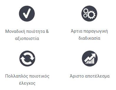 Η Rollex προσφέρει, Μοναδική ποιότητα & αξιοπιστία, Άρτια παραγωγική διαδικασία, Πολλαπλό ποιοτικό έλεγχο και τελικά άριστο αποτέλεσμα